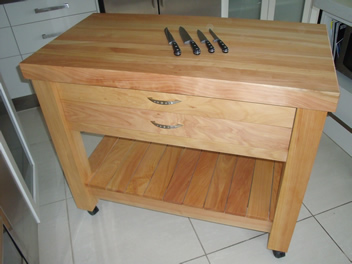 Butchers Block 2 drawer