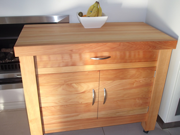 Butchers Block with drawer and cupboard 2