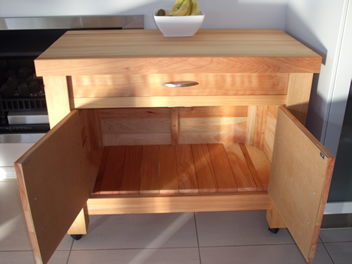Butchers Block with drawer and cupboard 3