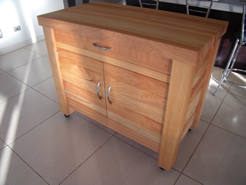 Butchers Block with drawer and cupboard 5