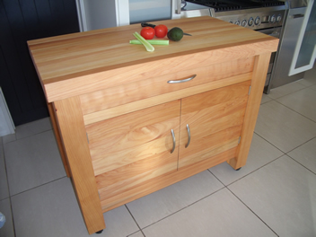 Butchers Block with drawer and cupboard