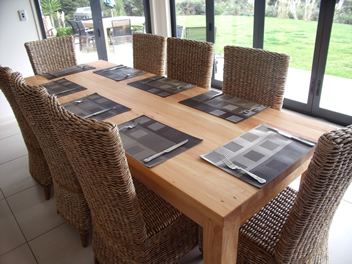 Solid Handcrafted Dining Table Made In New Zealand From Hand Picked Naturally Dried Macrocarpa Wood The Best Quality Available